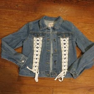Love Tree Denim Jacket Lace Down NWOT